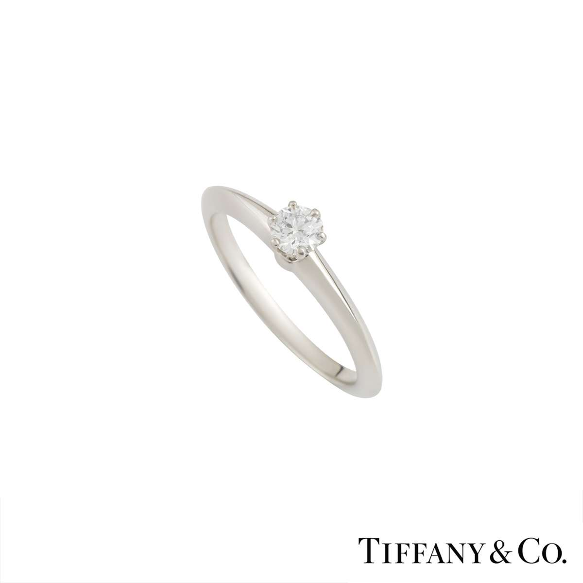Tiffany & Co Diamond Ring In Platinum 0.21ct G/VS1